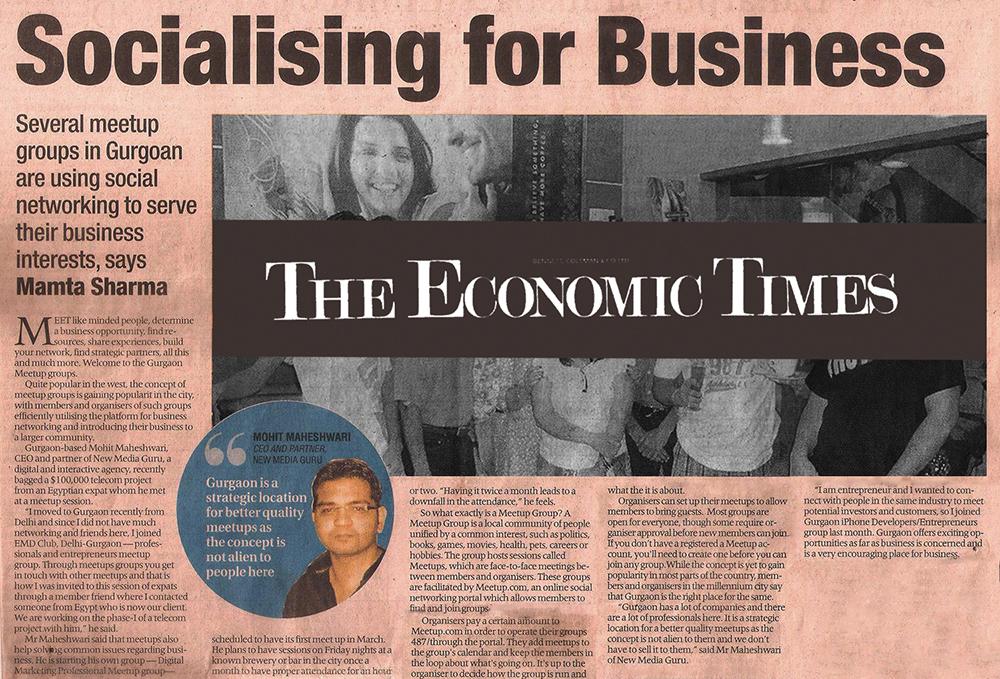 New Media Guru Economic Times