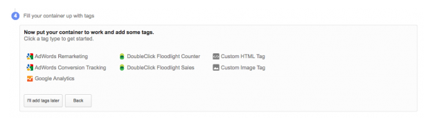 Initial Configuration Manager Google Tag