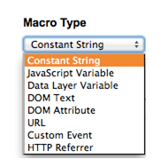 Macros Types - Google Tag Manager