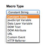 Macros Types - Google Tag Manager